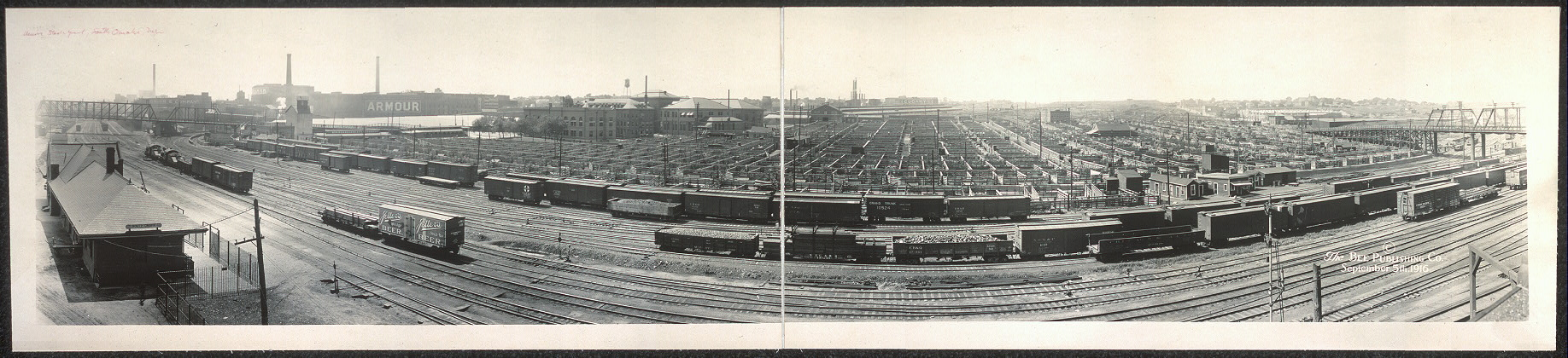 Union stock yards panorama, South Omaha