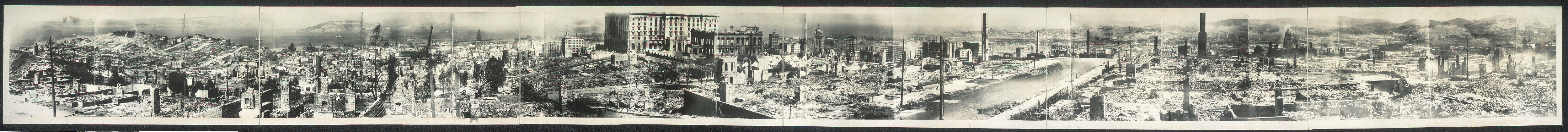 Panorama of San Francisco disaster
