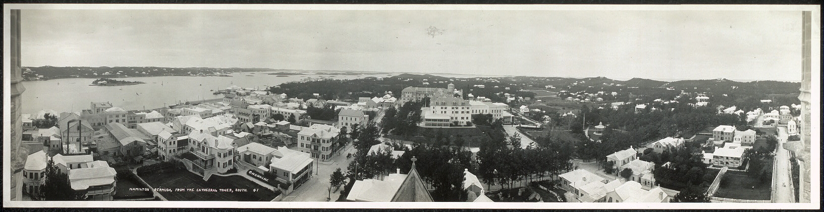 Hamilton, Bermuda, from the Cathedral tower, south