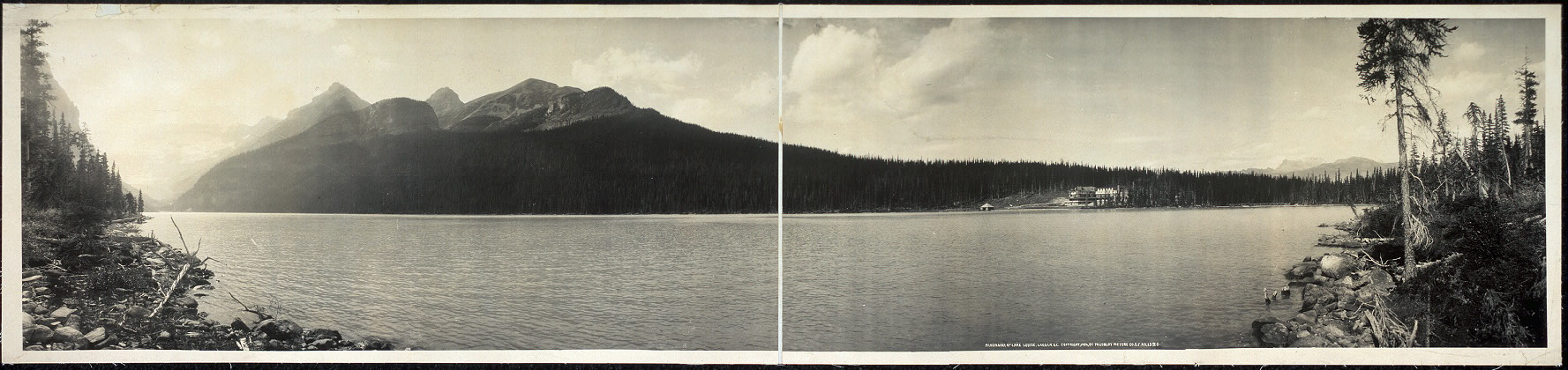 Panorama of Lake Louise, Laggan, B.C. [sic]