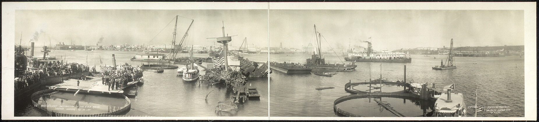 13 anniversary, destruction of the U.S.S. Maine, Havana Harbor, Feb. 15, 1911