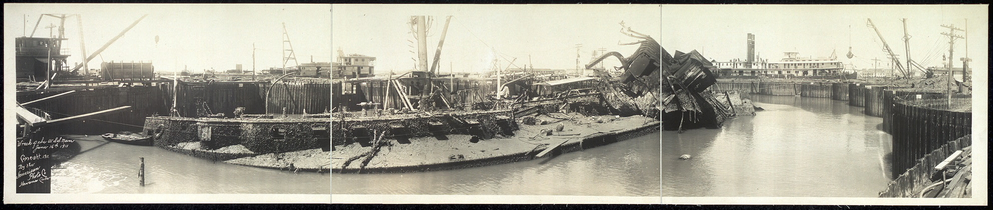 Wreck of the U.S.S. Maine, June 16th, 1911