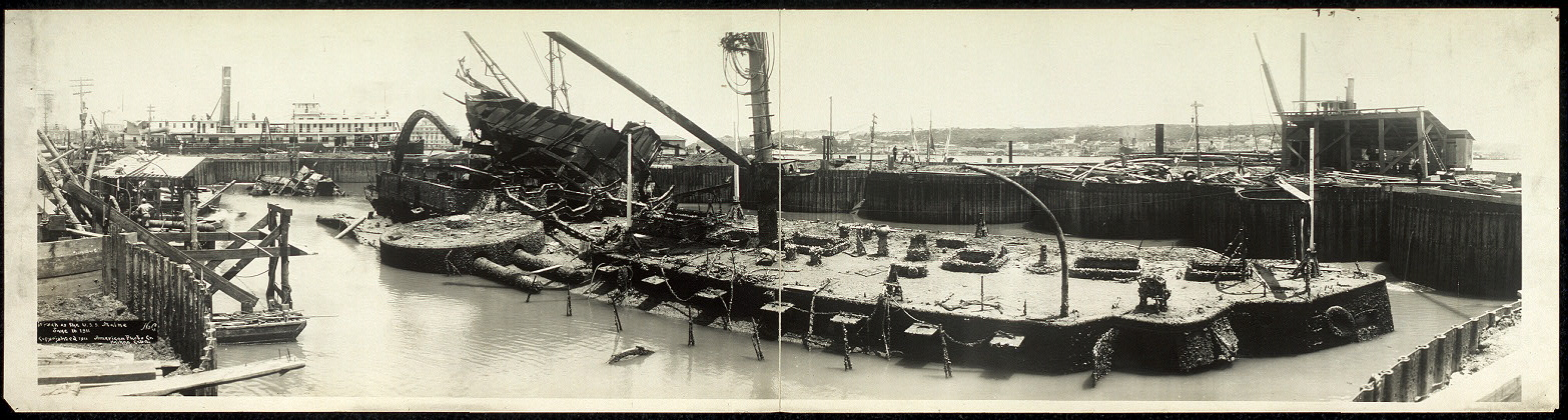 Wreck of the U.S.S. Maine, June 16, 1911