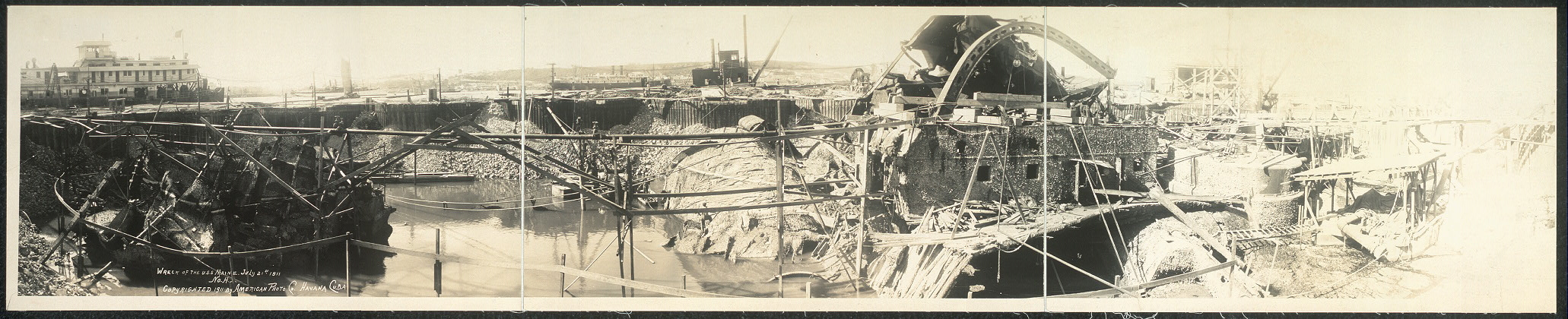 Wreck of the U.S.S. Maine, July 21st, 1911
