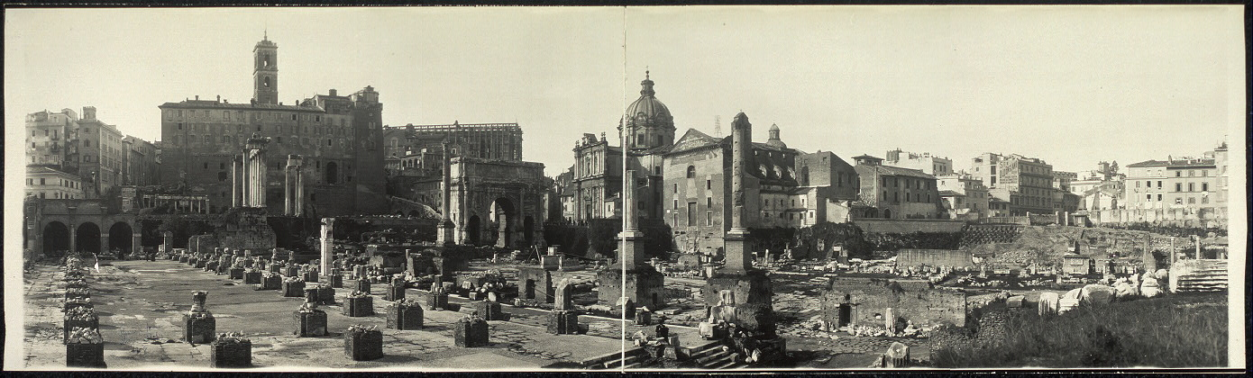 Roman Forum looking towards Capital, Rome