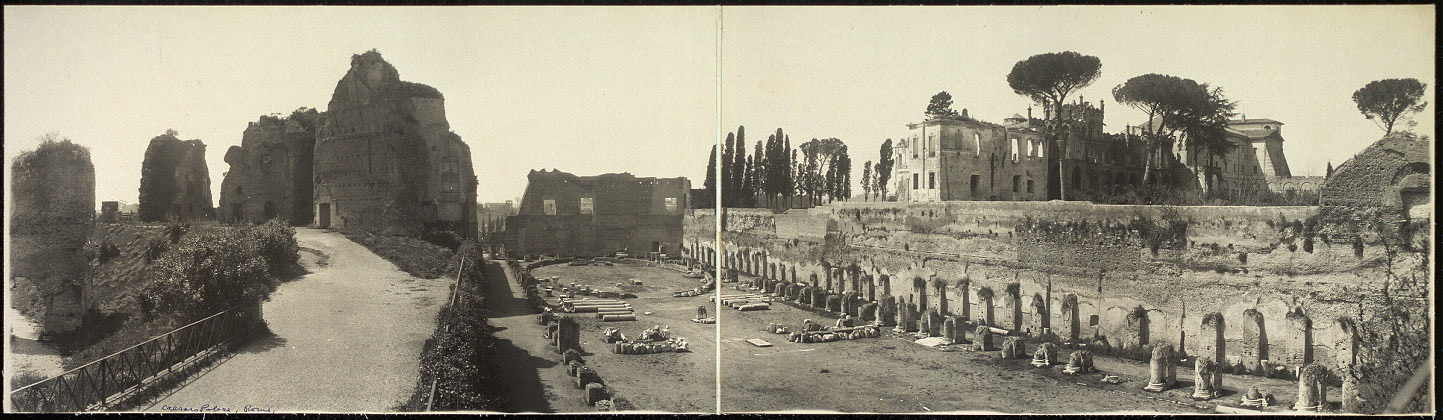 Panoramic view of Caesar's Palace, Palatine Hill