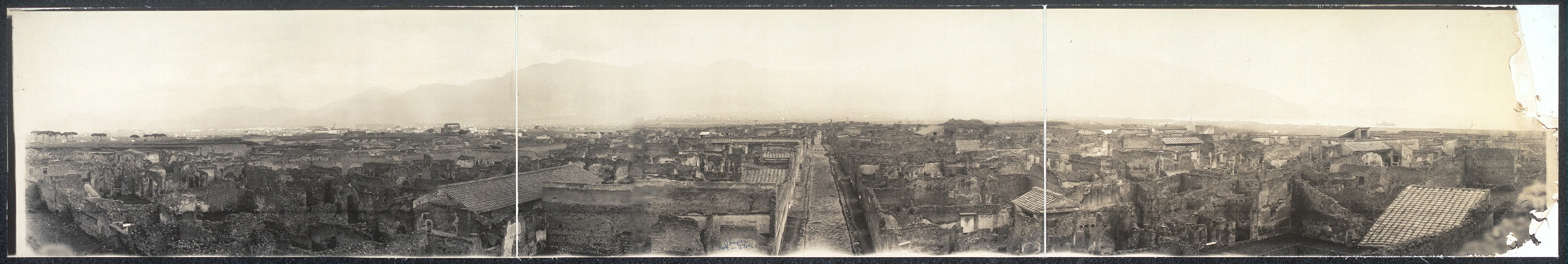[Destroyed city of Pompeii]