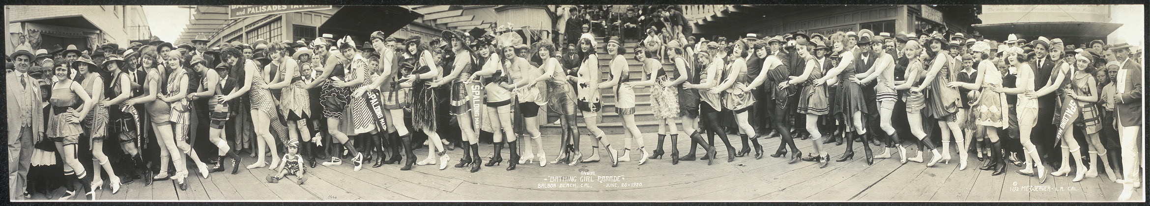 "Annual ""Bathing Girl Parade"", Balboa Beach, Cal., June 20, 1920"