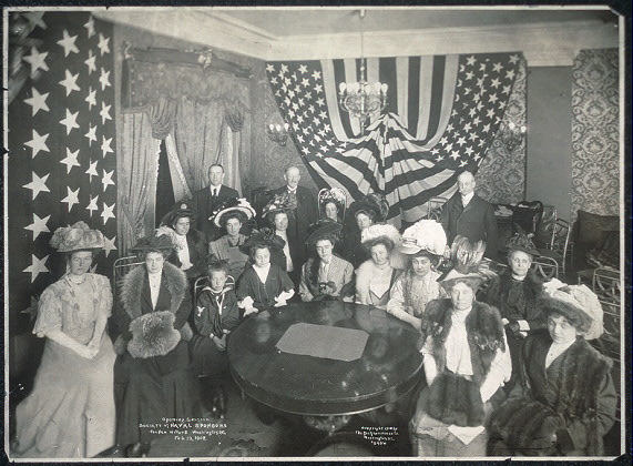 Opening session, Society of Naval Sponsors, the New Willard, Washington, D.C., Feb. 19, 1908