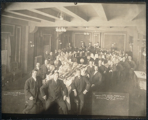 First Annual Banquet, Federation of American Aero Clubs, tendered by Aeronautique Club of Chicago, Feby. 21, 1908