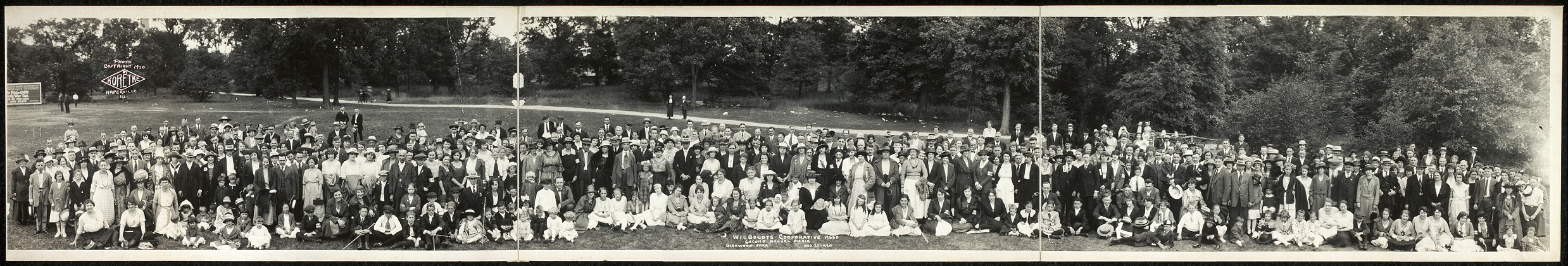 Wieboldts Cooperative Ass'o second annual picnic, Glenwood Park, Aug. 22, 1920