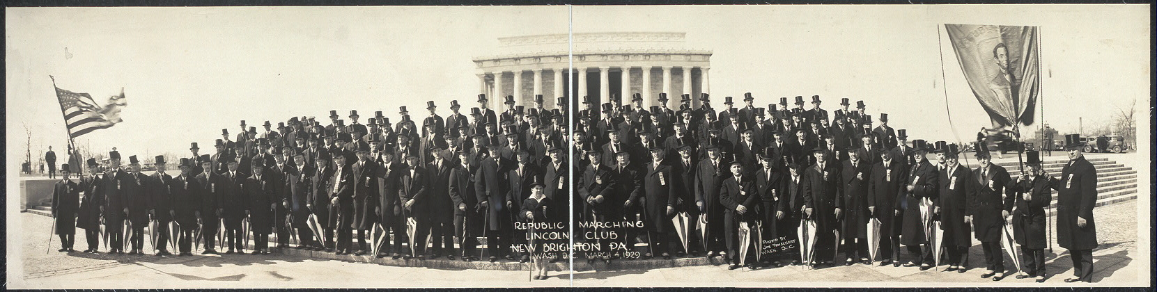 Republic Marching Lincoln Club, New Brighton, Pa., Wash., D.C., March 4, 1929