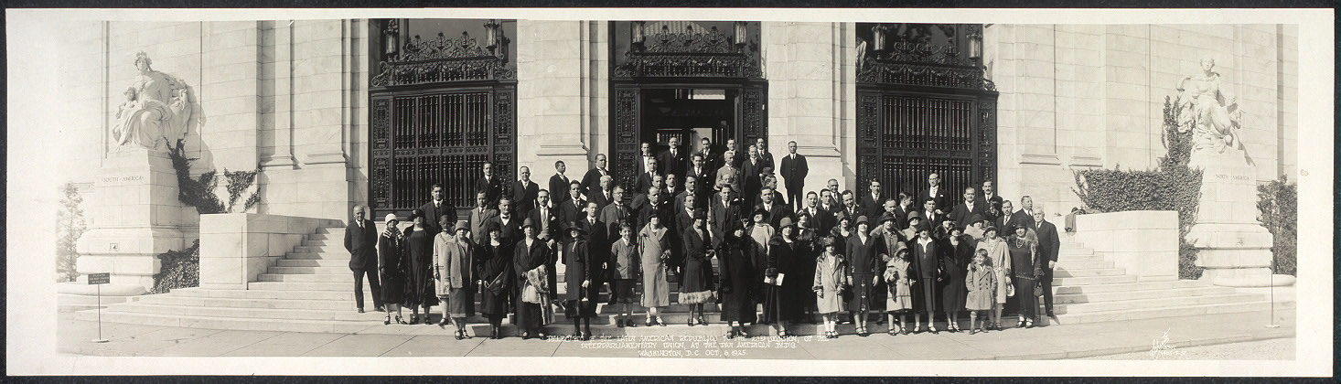 Delegates of the Latin American Republics to the 23rd session of the Interparliamentary Union at the Pan American Bld'g, Washington, D.C., Oct. 6, 1925