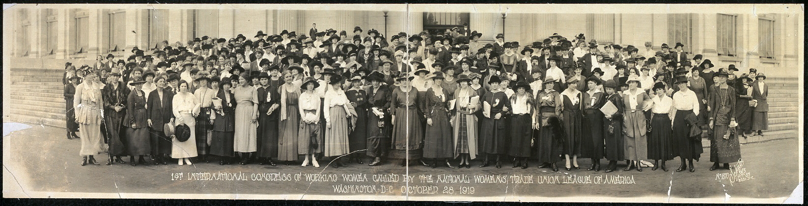 1st International Congress of Working Women called by the National Womens' Trade Union League of America, Washington, D.C., October 28, 1919