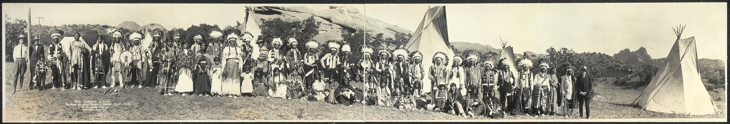 Ute Indian Camp, Garden of the Gods, Shan Kive, 1913