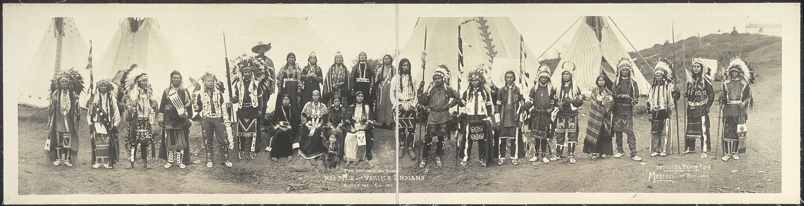 """The Centennial Band"", Nez-Perce and Yakima Indians, Astoria, Ore., Aug. 1911"