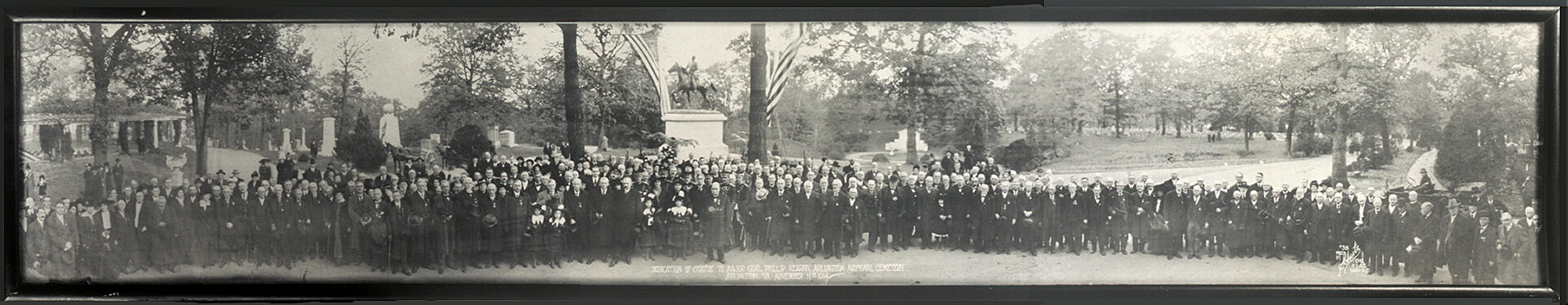 Dedication of statue to Major Gen'l. Phillip Kearny, Arlington National Cemetery, Arlington, Va., November 11th,  1914