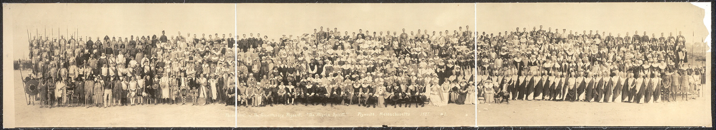 "Personnel of The Tercentenary Pageant, ""The Pilgrim Spirit,"" Plymouth, Massachusetts, 1921"