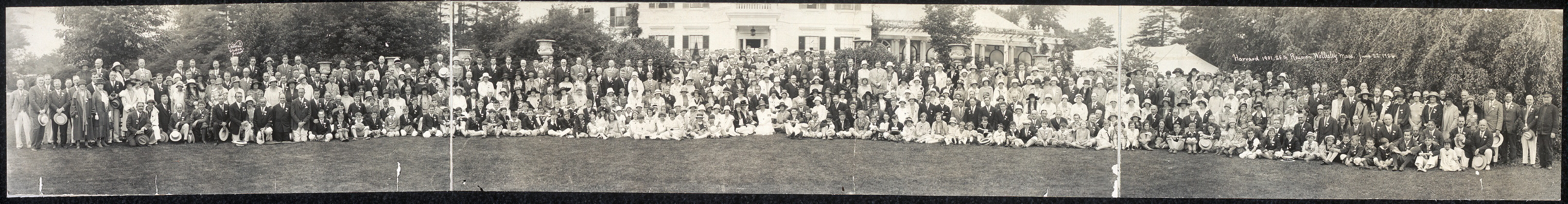 Harvard, 1901, 25th reunion, Wellesley, Mass., June 22, 1926
