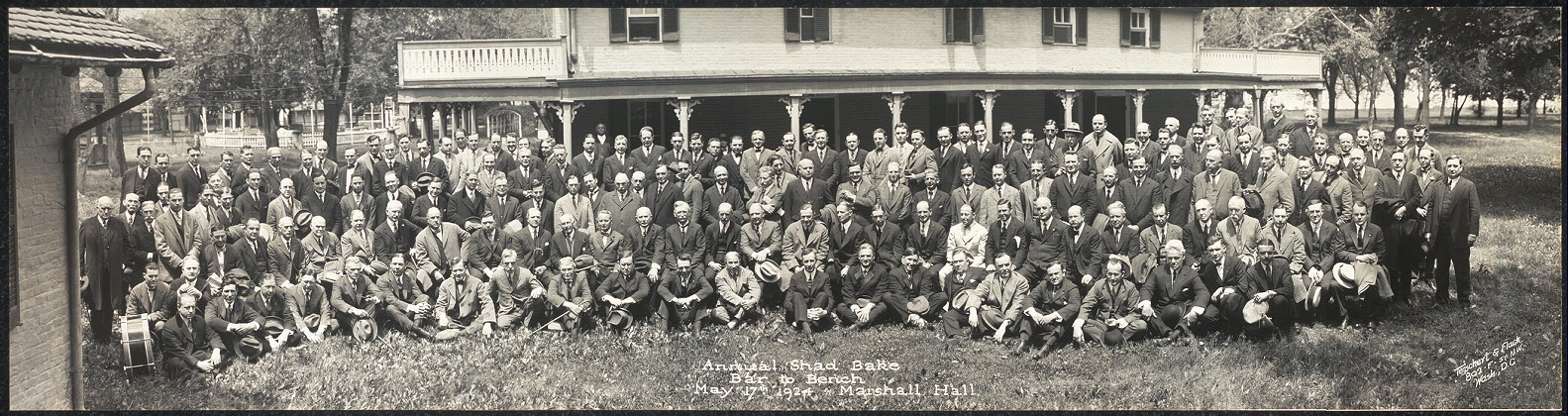 Annual Shad Bake, Bar to Bench, May 17th, 1924, Marshall Hall