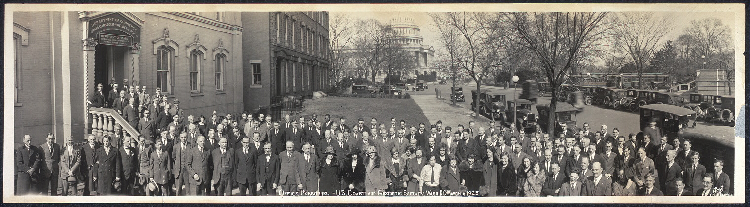 Office personnel, U.S. Coast and Geodetic Survey, Wash., D.C., March 6, 1925
