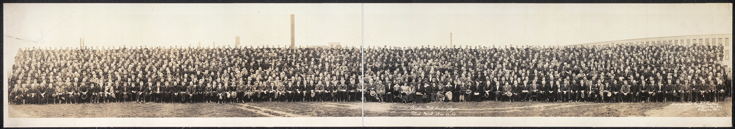 Weston - Mott Co. employees, Flint, Mich., Nov. 22, 1913