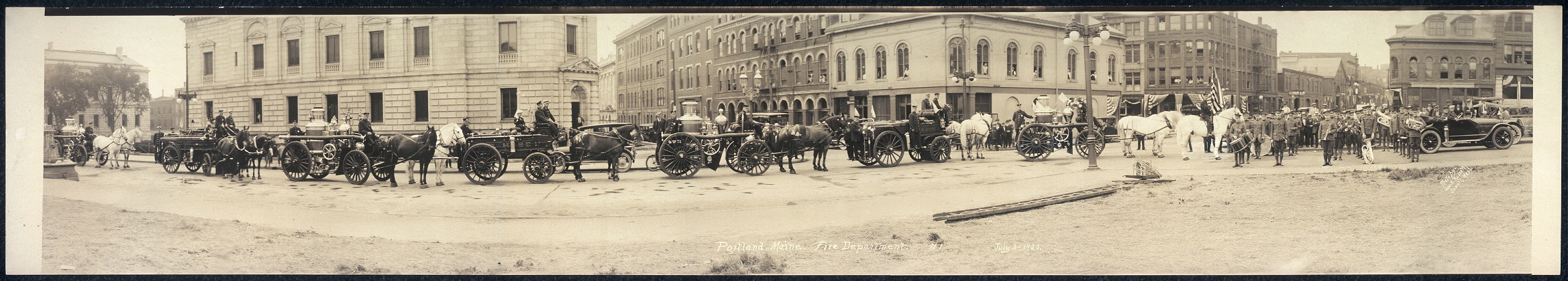 Portland, Maine, Fire Department, #1, July 3, 1920