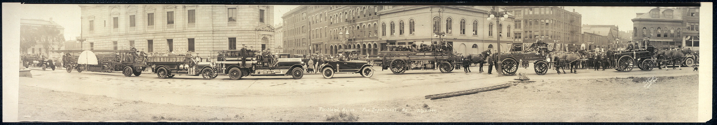 Portland, Maine, Fire Department, #2, July 3, 1920