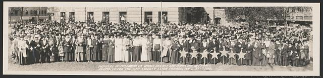 Mothers of McLennan Co., whose hearts and hopes are in France, assembled for the 4th Liberty Loan Parade, Sept. 27th, 1918