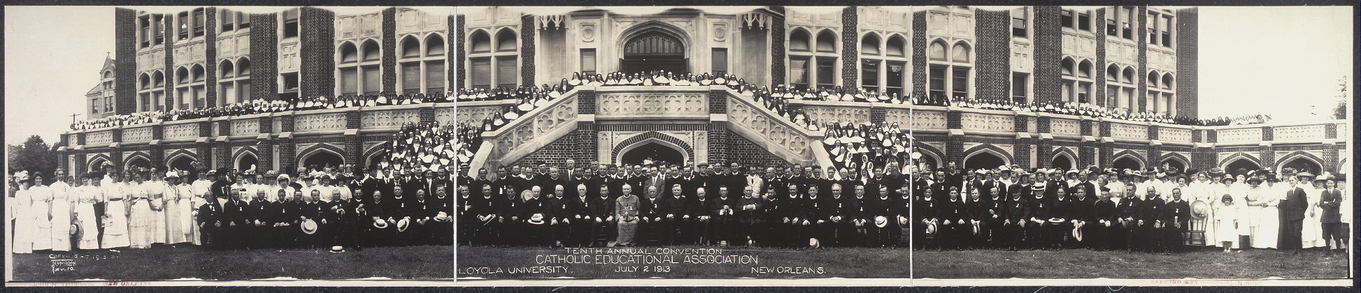 Tenth annual convention, Catholic Education Association, Loyola University, July 2, 1913, New Orleans