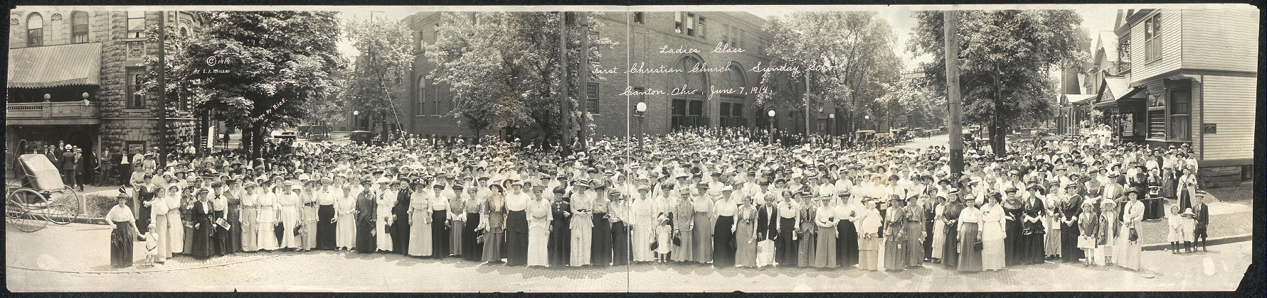 Ladies class, First Christian Church Sunday School, Canton, Ohio, June 7, 1914
