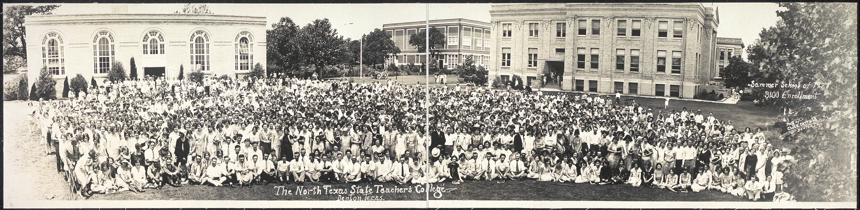 The North Texas State Teacher's College, Denton, Texas, Summer school of 1928, 3100 enrollment
