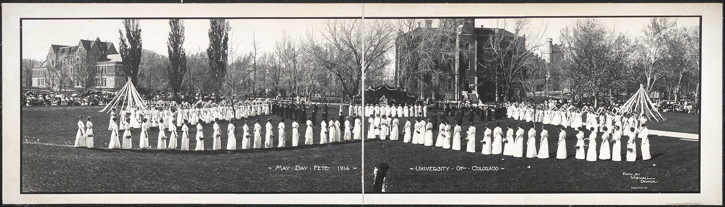 May Day Fete, 1914, University of Colorado