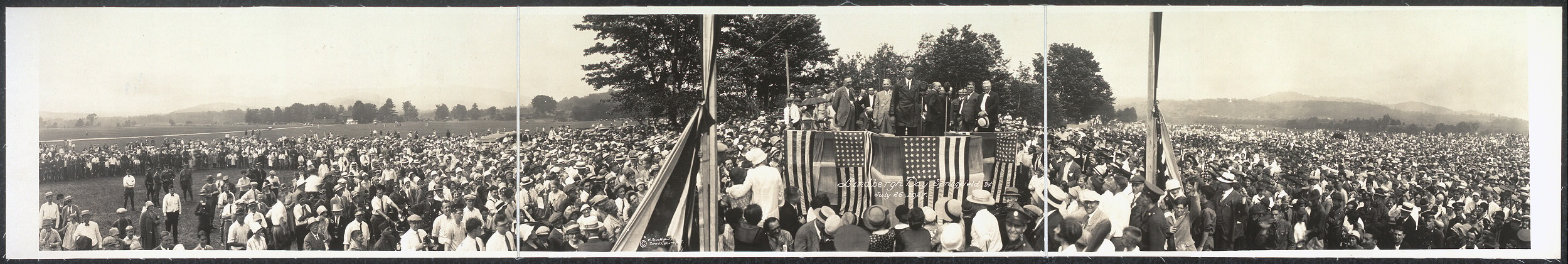 Lindbergh Day, Springfield, Vt., July 26, 1927