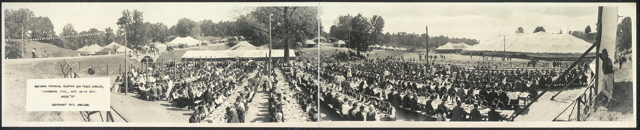 "National Memorial Reunion and Peace Jubilee, Vicksburg, Miss., Oct. 16-19, 1917, Mess ""B"""