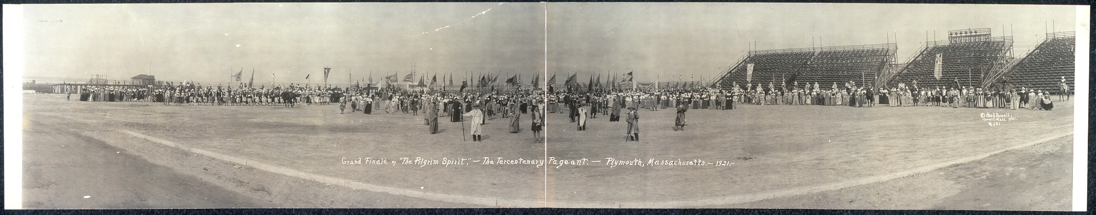 "Grand Finale of ""The Pilgrim Spirit"", The Tercentenary Pageant, Plymouth, Massachusetts, 1921"