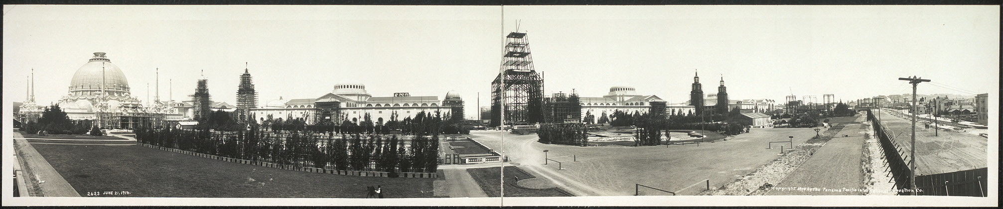 Panorama taken from the south gardens, June 21st, 1914