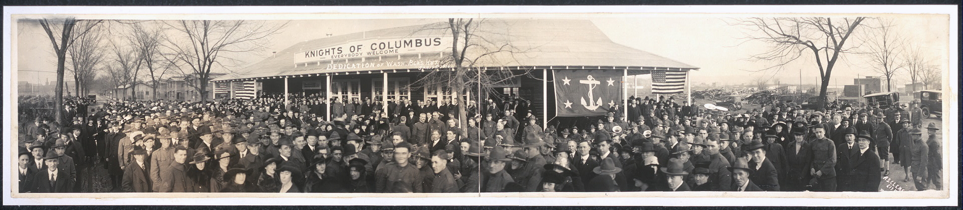 Dedication of Wash. B.ck's Hut, Jan. 19th, 1919
