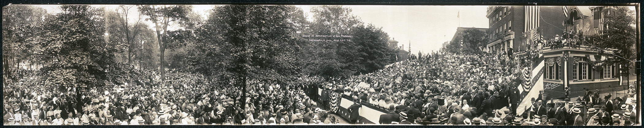 Scene at notification of Gov. Marshall, Indianapolis, Ind., Aug. 20th, '12