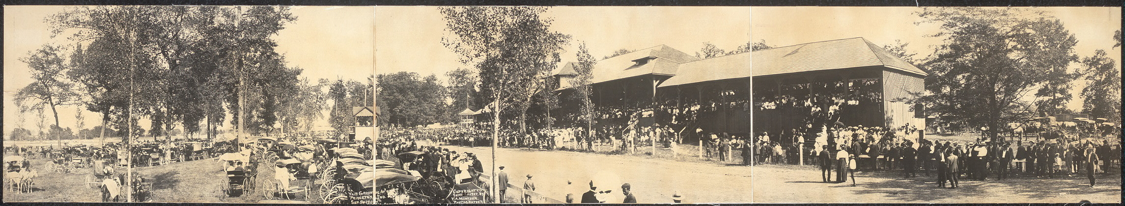 Fair grounds at Princeton, Ind., Sep. 5, 1907, 20,000 people on grounds