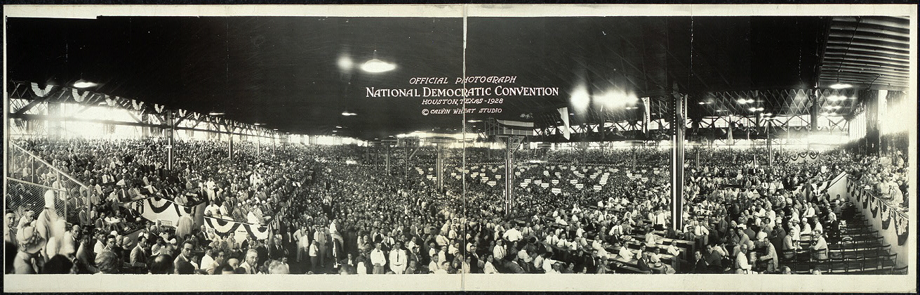 Official photograph, National Democratic Convention, Houston, Texas, 1928