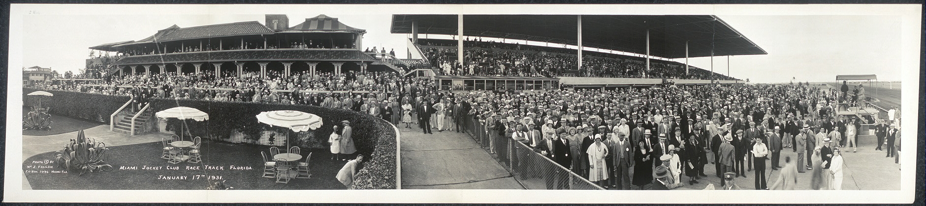 Miami Jockey Club Race Track, Florida, January 17th, 1931