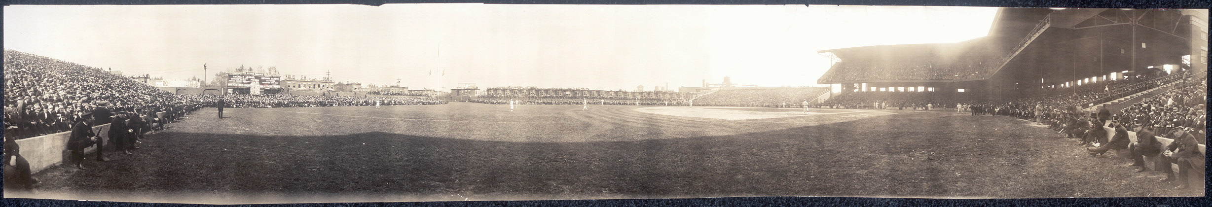 Second Game, World Series, Shibe Park, Phila.