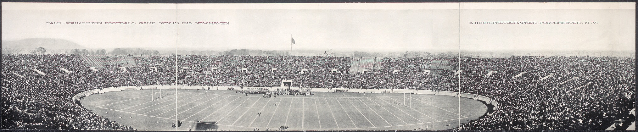 Yale - Princeton football game, Nov. 13, 1915, New Haven