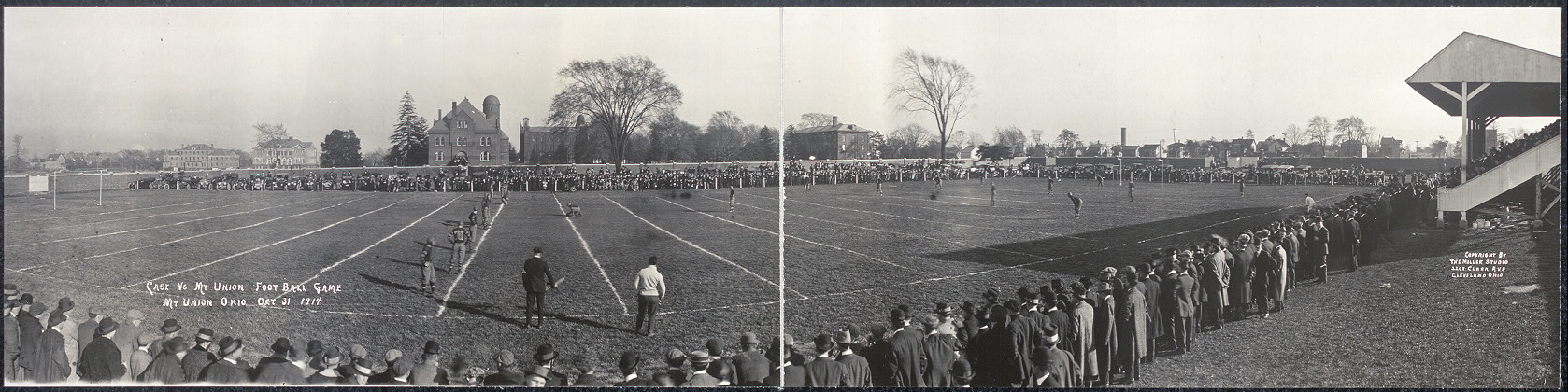 Case vs. Mt. Union football game, Mt. Union, Ohio, Oct. 31, 1914
