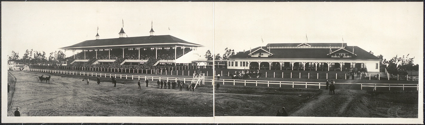 Grand stand, Santa Anita Race Track, California