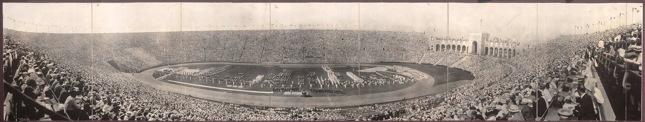 [General view of Los Angeles Olympic Stadium, July 30, 1932, opening day of the Games of the Xth Olympiad]