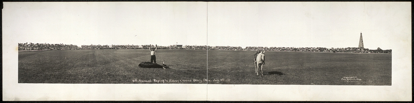 4th Annual Riding and Roping Contest, Dewey, Okla., July 4th 1911