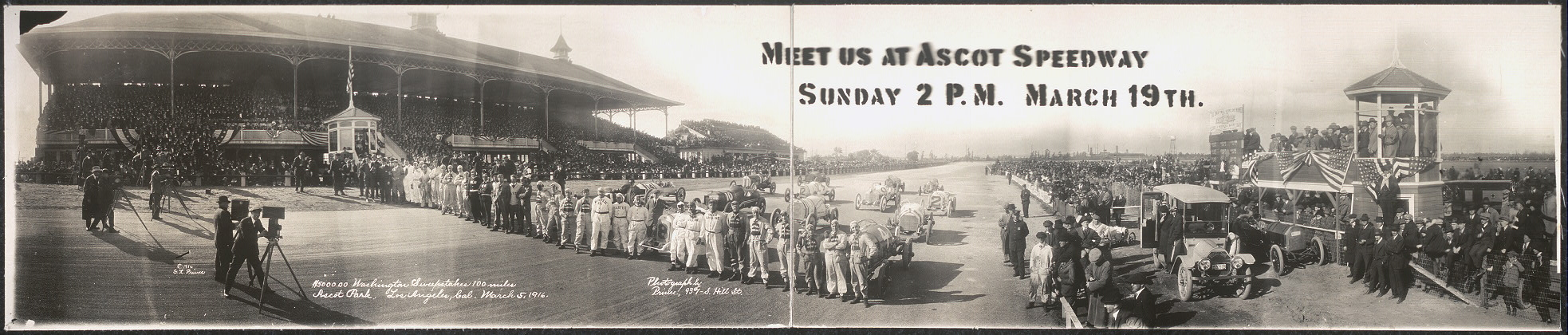 Meet us at Ascot Speedway, Sunday, 2 P.M., March 19th