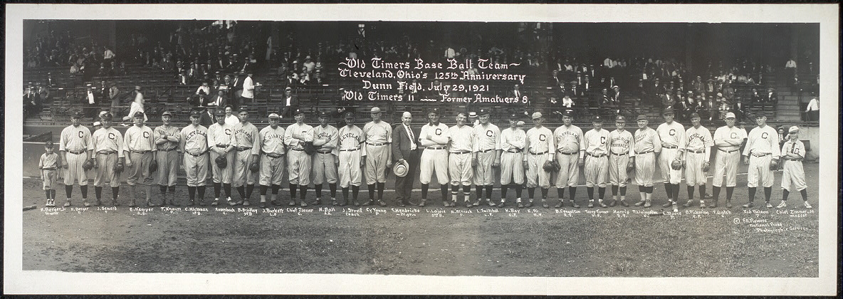 Old Timers base ball team, Cleveland Ohio's 125th Anniversary, Dunn Field, July 29, 1921, Old Timers 11 - Former Amateurs 8